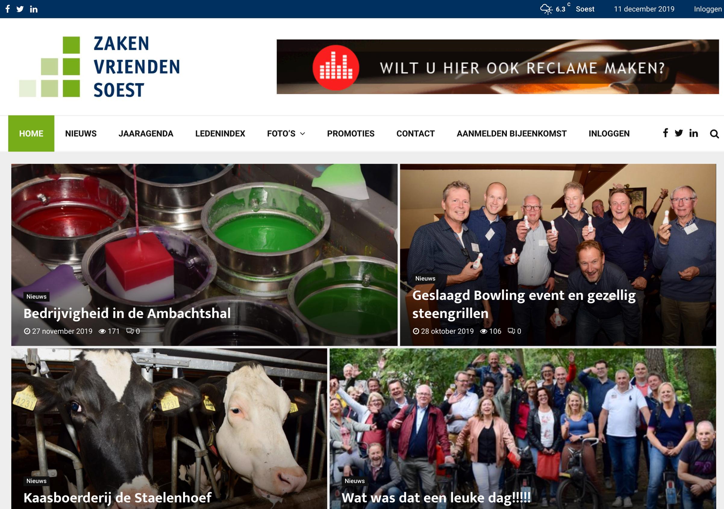 Nieuwe website Zaken Vrienden Soest