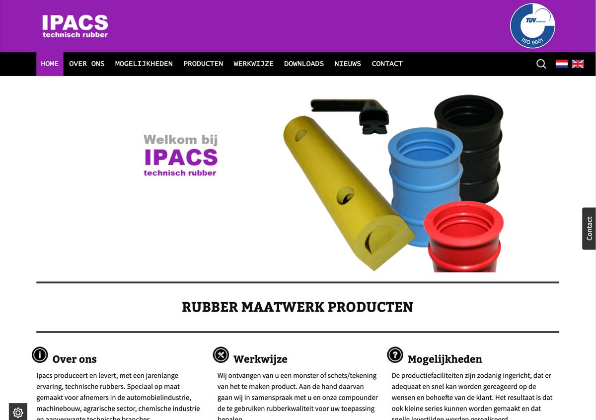 Website Ipacs Technisch Rubber